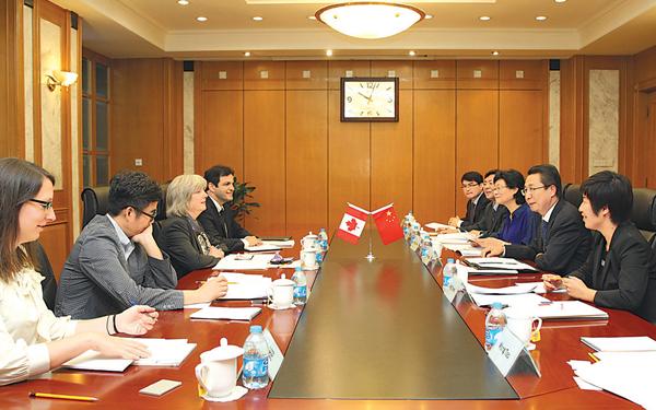 申长雨在京会见加拿大常识产权局局长一行